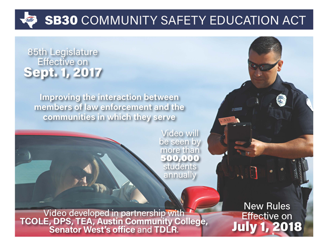 Community Safety Driver Education Poster